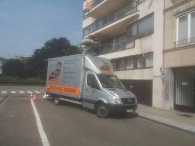 Camionnette pour déménagement pianos en Belgique   Déménagement Breuse à Huy, Andenne et Namur